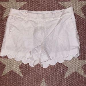 J. Crew Linen Cotton Scalloped Short - Size 6